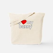 I Love My Bunny Tote Bag