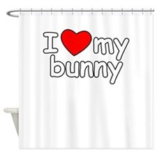 I Love My Bunny Shower Curtain