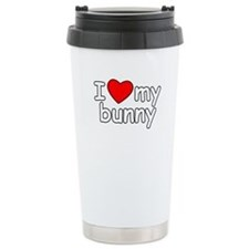 I Love My Bunny Travel Mug