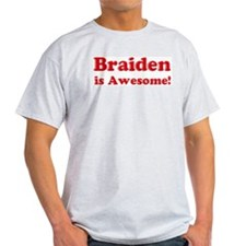 Braiden is Awesome Ash Grey T-Shirt