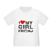 I Love My GirlFriend Distressed T-Shirt