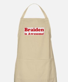 Braiden is Awesome BBQ Apron