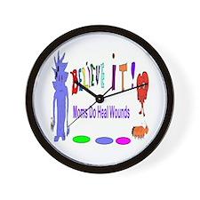 Believe It Moms Heal Wounds Wall Clock