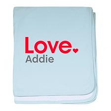 Love Addie baby blanket