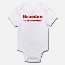 Braedon is Awesome Infant Bodysuit
