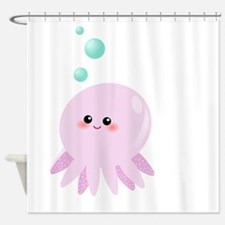 Cute pink octopus Shower Curtain