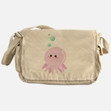 Cute pink octopus Messenger Bag