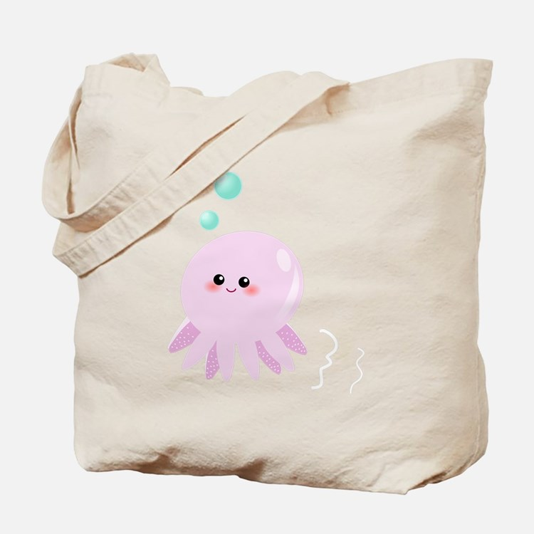 Cute pink octopus Tote Bag