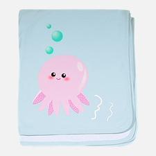 Cute pink octopus baby blanket