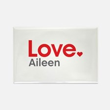 Love Aileen Rectangle Magnet