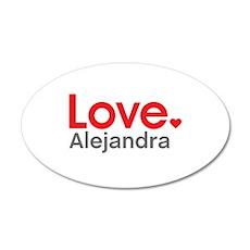 Love Alejandra Wall Decal