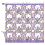Cute Purple Kitties Design Shower Curtain