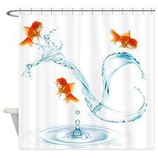 Splashing Goldfish Shower Curtain