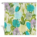 Purple Iris Flowers Shower Curtain
