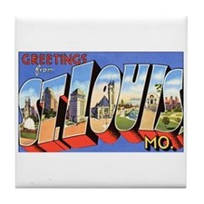 St Louis Missouri Greetings Tile Coaster