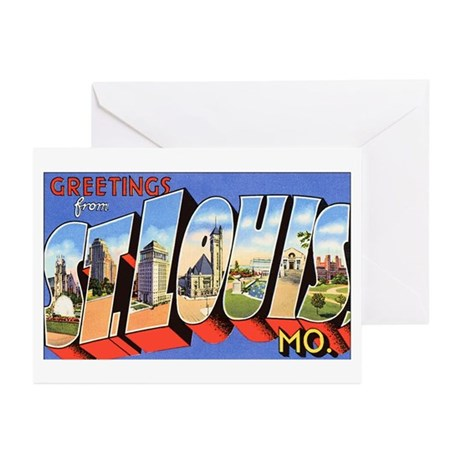 St Louis Missouri Greetings Greeting Cards (Packag