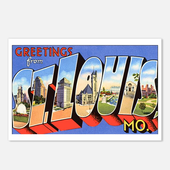 St Louis Missouri Greetings Postcards (Package of