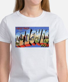 St Louis Missouri Greetings (Front) Women's T-Shir