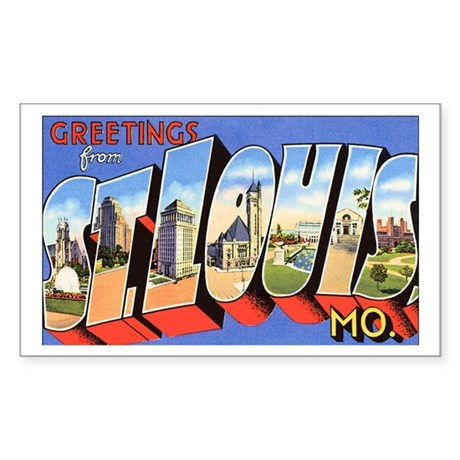 St Louis Missouri Greetings Rectangle Sticker