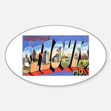 St Louis Missouri Greetings Oval Decal