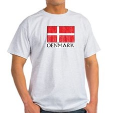 Denmark Flag Ash Grey T-Shirt