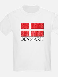 Denmark Flag Kids T-Shirt