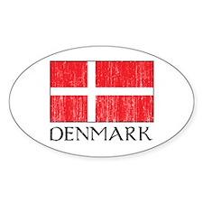 Denmark Flag Oval Decal