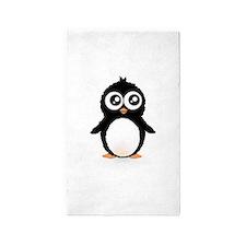 Cute penguin 3'x5' Area Rug