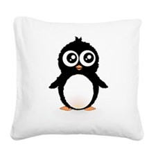 Cute penguin Square Canvas Pillow