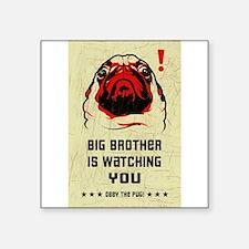 Big Brother Pug Rectangle Sticker