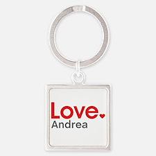 Love Andrea Square Keychain