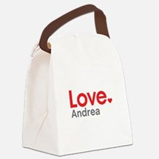 Love Andrea Canvas Lunch Bag
