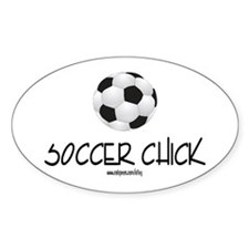 Soccer Chick Oval Decal