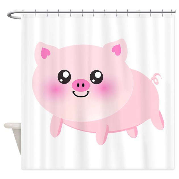 Cute Pig Shower Curtain By InspirationzStore