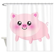 cute pig Shower Curtain
