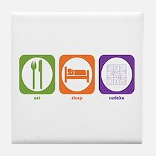 Eat Sleep Sudoku Tile Coaster