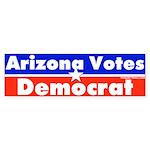 Arizona Votes Democrat Bumper Sticker