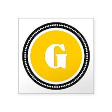"Yellow Square Sticker 3"" x 3"""