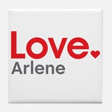 Love Arlene Tile Coaster