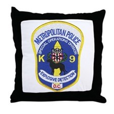 D.C. Police Canine Throw Pillow