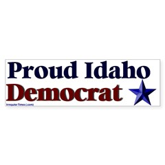 Proud Idaho Democrat Bumper Bumper Sticker