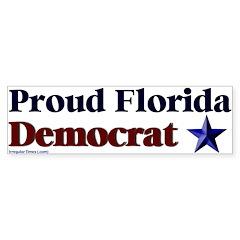 Proud Florida Democrat Bumper Bumper Sticker