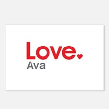 Love Ava Postcards (Package of 8)