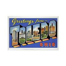 Toledo Ohio Greetings Rectangle Magnet