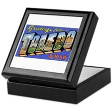 Toledo Ohio Greetings Keepsake Box