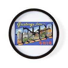 Toledo Ohio Greetings Wall Clock