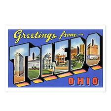 Toledo Ohio Greetings Postcards (Package of 8)