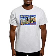 Toledo Ohio Greetings (Front) Ash Grey T-Shirt