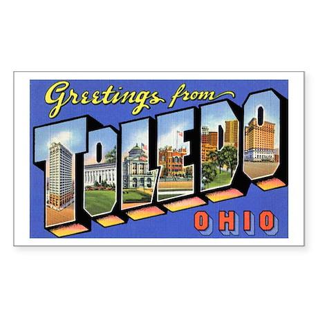 Toledo Ohio Greetings Rectangle Sticker