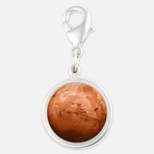 Planet Mars Silver Round Charm